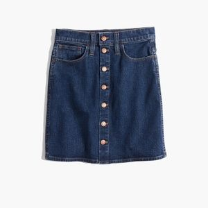 Madewell Stretch Button-Front Mini Skirt SZ 31